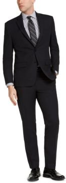 Classic-Fit Black Micro-Check Suit