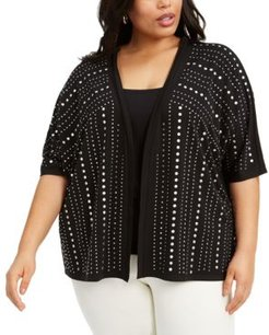Plus Size Embellished Cardigan