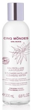 5 Flowers Micellar Cleansing Water for Face and Eyes, 6.8 fl oz
