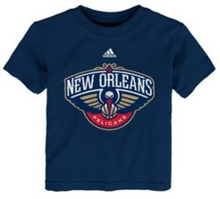adidas Toddlers New Orleans Pelicans Basic Logo T-Shirt