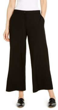 System Wide-Leg Ankle Pants