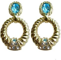 18k Gold Plated Pierced Earrings