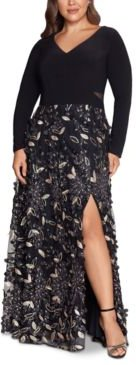 Plus Size Embellished-Skirt Gown
