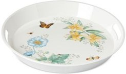 Butterfly Meadow Collection Melamine Large Round Handled Tray