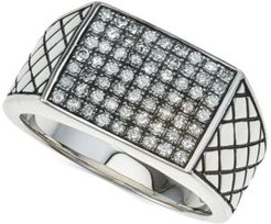 Diamond Cluster Ring (3/4 ct. t.w.) in Sterling Silver, Created for Macy's