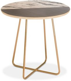 Kelly Haines Gray Round Side Table