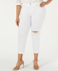 Plus Size Ripped Girlfriend Jeans