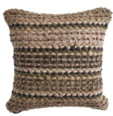 Khaki Chevron Striped Throw Pillow