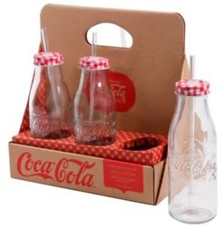 Country Classic 6 Piece 15 Ounce Bottle Set with Lid and Straw