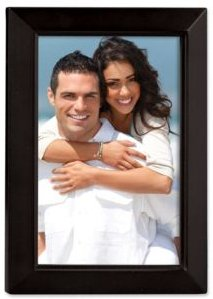 """Black Wood Picture Frame - Estero Collection - 4"""" x 6"""""""