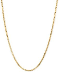 """Box 20"""" Chain Necklace in 14k Gold"""