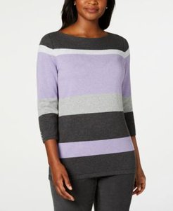 Striped Boatneck Sweater, Created for Macy's