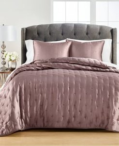 Closeout! Martha Stewart Collection Tufted Satin King Quilt, Created for Macy's