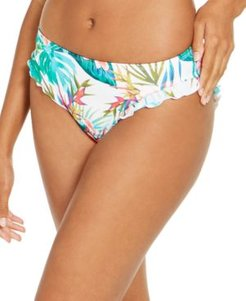 Hot Tropics Printed Ellie Mid Rise Ruffle Bottoms, Created for Macy's Women's Swimsuit