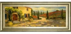 "Scenic Italy V by Allay Stevens Framed Print Wall Art, 18"" x 42"""
