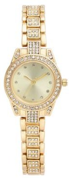 Crystal Gold-Tone Bracelet Watch 27mm, Created for Macy's