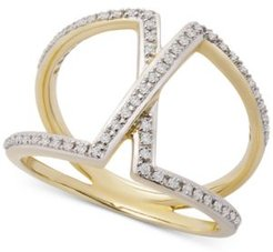 Diamond Overlap Statement Ring (1/4 ct. t.w.) in 14k Gold, Created for Macy's