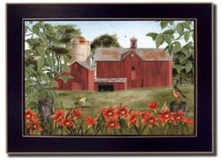 "Summer Days By Billy Jacobs, Printed Wall Art, Ready to hang, Black Frame, 14"" x 10"""