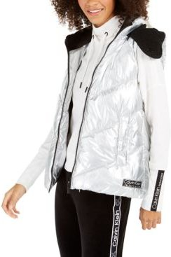 Performance Chevron-Quilted Hooded Vest