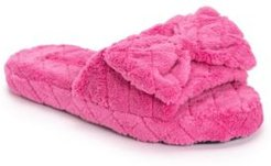 Quilted Terry Cloth Slide Slippers