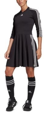 3-Stripe Pleated Dress