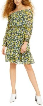 Off-The-Shoulder Floral-Print Dress, Created for Macy's