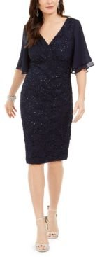 Petite Sequined Lace Dress