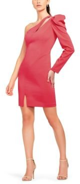 Aidan Mattox Single Sleeve Crepe Dress
