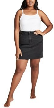 Trendy Plus Size Denim Skirt