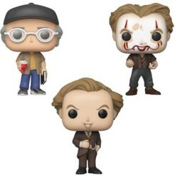 Pop Movies it Chapter 2 Collectors Set 2 - Shop Ceeper, Pennywise with Partial Make Up, Pennywise In Pinstripe Suit