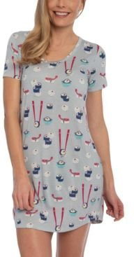 Sushi Sleepshirt Nightgown, Online Only