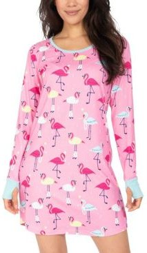 Flamingo Sleepshirt Nightgown, Online Only