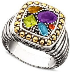 Balissima by Effy Multistone Square Ring (1-1/2 ct. t.w.) in 18k Gold and Sterling Silver