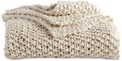 Pure Cotton Chunky Knit Throw Bedding