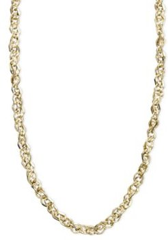 """14k Gold Necklace, 16"""" Perfectina Chain Necklace (1-1/8mm)"""