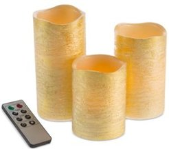 4-Pc. Distressed Flameless Led Candles & Remote Control Set