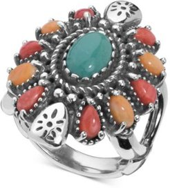 Multi-Gemstone Statement Ring (3-1/2 ct. t.w.) in Sterling Silver