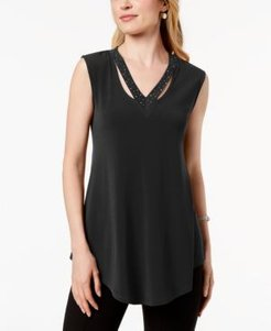 Embellished Cutout Tank Top, Created for Macy's