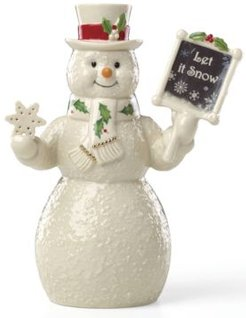 Let It Snow Snowman Figurine, Created for Macy's