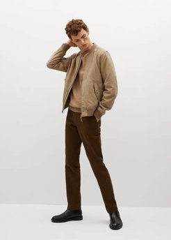 Faux-suede bomber jacket beige - M - Men