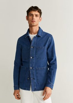 Dark wash denim jacket dark blue - M - Men