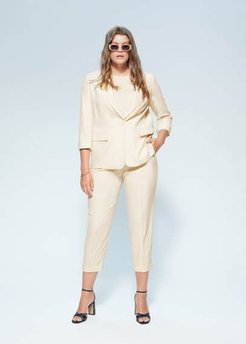 Pocket suit blazer beige - S - Plus sizes