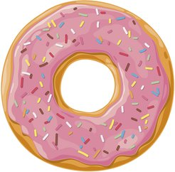 Ring Donut Vinyl Placemat - Pink