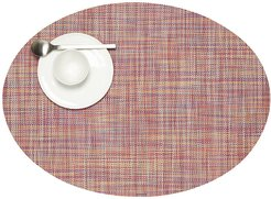 Mini Basketweave Woven Oval Placemat - Festival