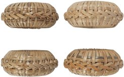 Wicker Napkin Ring - Set of 4
