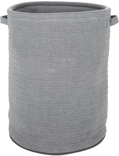 Knitted Laundry/Storage Basket - Light Gray