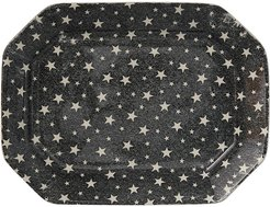 Midnight Sky Rectangular Tray - Black