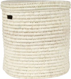 Pale Hand Woven Laundry/Storage Basket - Natural - M