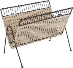 Wicker Magazine Rack - Wide