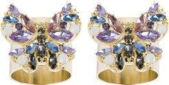 Jeweled Butterfly Napkin Ring - Set of 2 - Pink